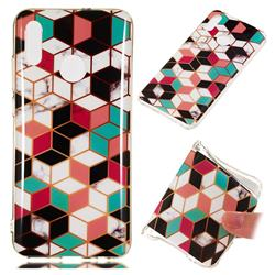 Three-dimensional Square Soft TPU Marble Pattern Phone Case for Huawei Honor 10 Lite