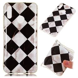 Black and White Matching Soft TPU Marble Pattern Phone Case for Huawei Honor 10 Lite