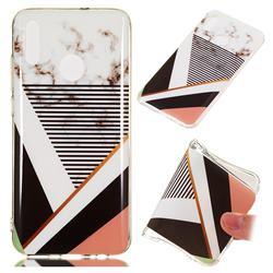 Pinstripe Soft TPU Marble Pattern Phone Case for Huawei Honor 10 Lite