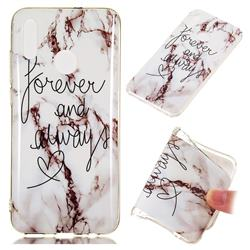 Forever Soft TPU Marble Pattern Phone Case for Huawei Honor 10 Lite