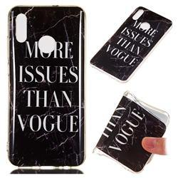 Stylish Black Soft TPU Marble Pattern Phone Case for Huawei Honor 10 Lite