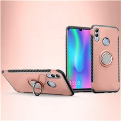 Armor Anti Drop Carbon PC + Silicon Invisible Ring Holder Phone Case for Huawei Honor 10 Lite - Rose Gold