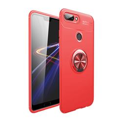 Auto Focus Invisible Ring Holder Soft Phone Case for Huawei Honor 10 Lite - Red