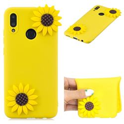 Yellow Sunflower Soft 3D Silicone Case for Huawei Honor 10 Lite