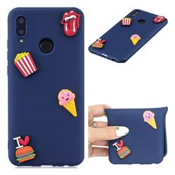 I Love Hamburger Soft 3D Silicone Case for Huawei Honor 10 Lite
