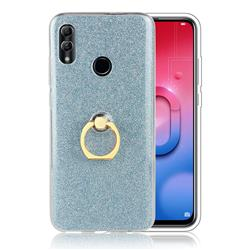 Luxury Soft TPU Glitter Back Ring Cover with 360 Rotate Finger Holder Buckle for Huawei Honor 10 Lite - Blue