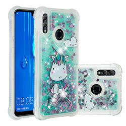 Tiny Unicorn Dynamic Liquid Glitter Sand Quicksand Star TPU Case for Huawei Honor 10 Lite