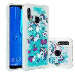 Fashion Unicorn Dynamic Liquid Glitter Sand Quicksand Star TPU Case for Huawei Honor 10 Lite