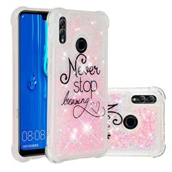 Never Stop Dreaming Dynamic Liquid Glitter Sand Quicksand Star TPU Case for Huawei Honor 10 Lite