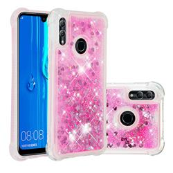 Dynamic Liquid Glitter Sand Quicksand TPU Case for Huawei Honor 10 Lite - Pink Love Heart