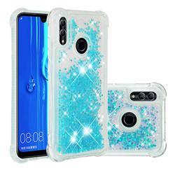 Dynamic Liquid Glitter Sand Quicksand TPU Case for Huawei Honor 10 Lite - Silver Blue Star