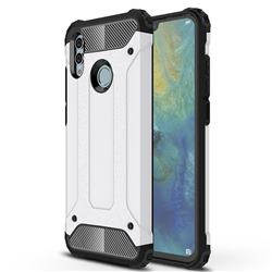King Kong Armor Premium Shockproof Dual Layer Rugged Hard Cover for Huawei Honor 10 Lite - White