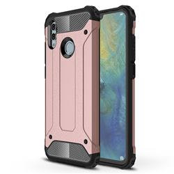 King Kong Armor Premium Shockproof Dual Layer Rugged Hard Cover for Huawei Honor 10 Lite - Rose Gold
