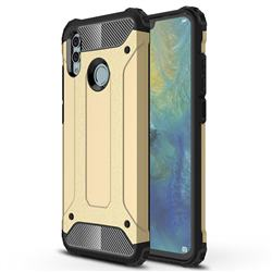 King Kong Armor Premium Shockproof Dual Layer Rugged Hard Cover for Huawei Honor 10 Lite - Champagne Gold