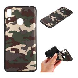 Camouflage Soft TPU Back Cover for Huawei Honor 10 Lite - Gold Green