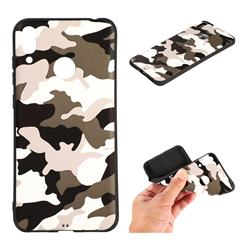 Camouflage Soft TPU Back Cover for Huawei Honor 10 Lite - Black White