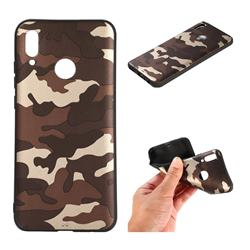 Camouflage Soft TPU Back Cover for Huawei Honor 10 Lite - Gold Coffee