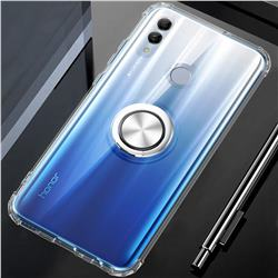 Anti-fall Invisible Press Bounce Ring Holder Phone Cover for Huawei Honor 10 Lite - Transparent
