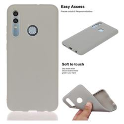 Soft Matte Silicone Phone Cover for Huawei Honor 10 Lite - Gray