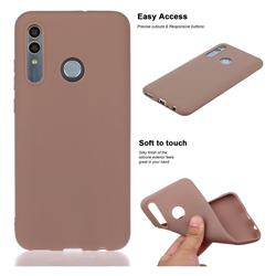 Soft Matte Silicone Phone Cover for Huawei Honor 10 Lite - Khaki