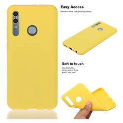 Soft Matte Silicone Phone Cover for Huawei Honor 10 Lite - Yellow