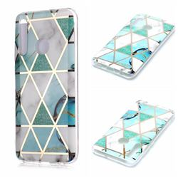Green White Galvanized Rose Gold Marble Phone Back Cover for Huawei Honor 10 Lite