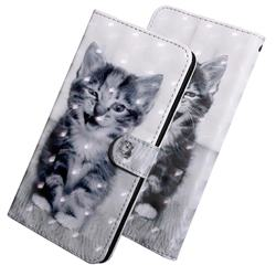 Smiley Cat 3D Painted Leather Wallet Case for Huawei Honor 10 Lite