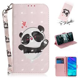 Heart Cat 3D Painted Leather Wallet Phone Case for Huawei Honor 10 Lite