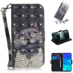 Cat Embrace 3D Painted Leather Wallet Phone Case for Huawei Honor 10 Lite