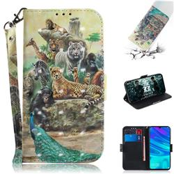 Beast Zoo 3D Painted Leather Wallet Phone Case for Huawei Honor 10 Lite