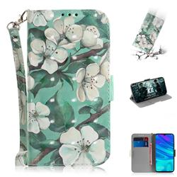 Watercolor Flower 3D Painted Leather Wallet Phone Case for Huawei Honor 10 Lite