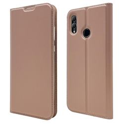 Ultra Slim Card Magnetic Automatic Suction Leather Wallet Case for Huawei Honor 10 Lite - Rose Gold