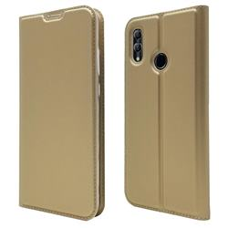 Ultra Slim Card Magnetic Automatic Suction Leather Wallet Case for Huawei Honor 10 Lite - Champagne