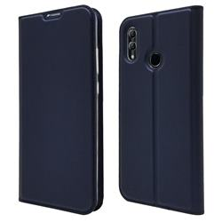 Ultra Slim Card Magnetic Automatic Suction Leather Wallet Case for Huawei Honor 10 Lite - Royal Blue