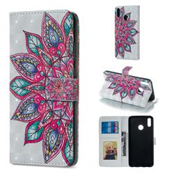 Mandara Flower 3D Painted Leather Phone Wallet Case for Huawei Honor 10 Lite