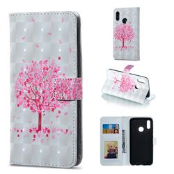 Sakura Flower Tree 3D Painted Leather Phone Wallet Case for Huawei Honor 10 Lite