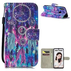 Star Wind Chimes 3D Painted Leather Wallet Phone Case for Huawei Honor 10 Lite