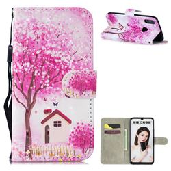 Tree House 3D Painted Leather Wallet Phone Case for Huawei Honor 10 Lite