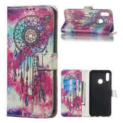 Butterfly Chimes PU Leather Wallet Case for Huawei Honor 10 Lite