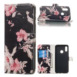 Azalea Flower PU Leather Wallet Case for Huawei Honor 10 Lite