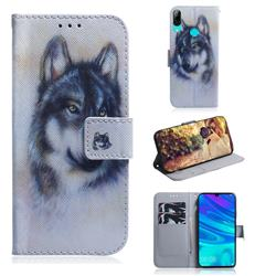 Snow Wolf PU Leather Wallet Case for Huawei Honor 10 Lite