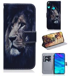 Lion Face PU Leather Wallet Case for Huawei Honor 10 Lite