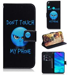 Not Touch My Phone PU Leather Wallet Case for Huawei Honor 10 Lite