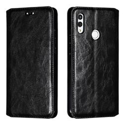 Retro Slim Magnetic Crazy Horse PU Leather Wallet Case for Huawei Honor 10 Lite - Black
