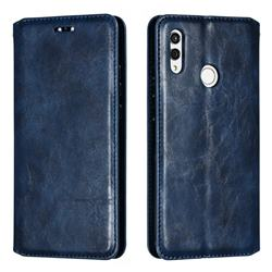 Retro Slim Magnetic Crazy Horse PU Leather Wallet Case for Huawei Honor 10 Lite - Blue