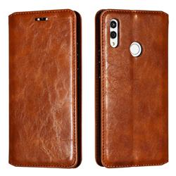 Retro Slim Magnetic Crazy Horse PU Leather Wallet Case for Huawei Honor 10 Lite - Brown