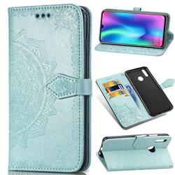 Embossing Imprint Mandala Flower Leather Wallet Case for Huawei Honor 10 Lite - Green