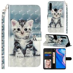 Kitten Cat 3D Leather Phone Holster Wallet Case for Huawei Honor 10 Lite