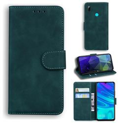 Retro Classic Skin Feel Leather Wallet Phone Case for Huawei Honor 10 Lite - Green