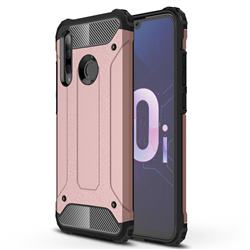 King Kong Armor Premium Shockproof Dual Layer Rugged Hard Cover for Huawei Honor 10i - Rose Gold